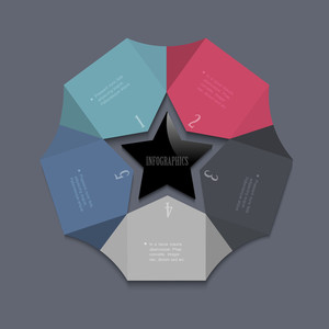 Stylized Star-design Template For Infographics