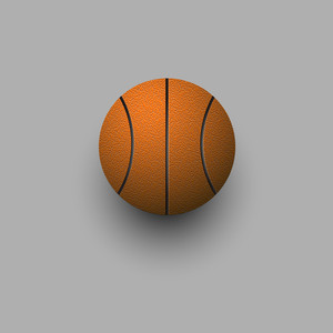 Stylized Vector Basketball Ball