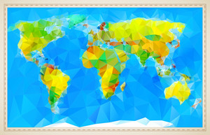Stylized Vector World Map.