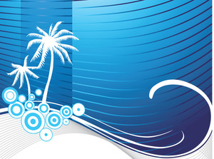 Stylized Wallpaper Of Palm Tree