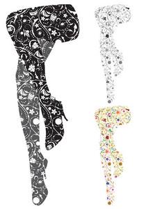 Stylized Woman Legs Vector Illustration