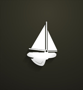 Submarine Sailing Boat Vector Shape