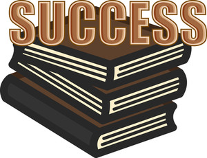 Success Books - Education Concept - Business Cartoons Vectors