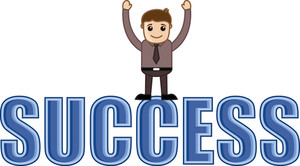 Success - Business Cartoons Vectors