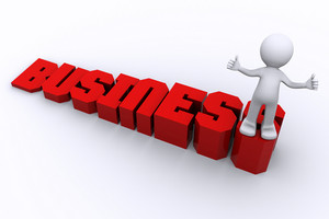 Success In Business.  Business Growing Concept