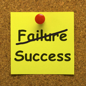 Success Note Showing Achievements Or Wealth
