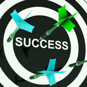 Success On Dartboard Shows Unsuccessful Goals