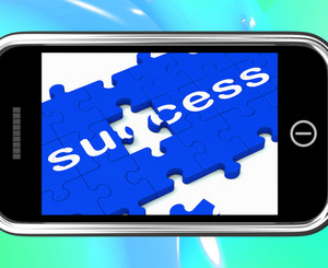 Success On Smartphone Shows Successful Solutions