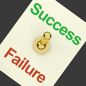 Success Switch On As Symbol Of Winning And Victory