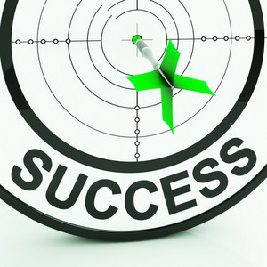 Success Target Shows Achievement Strategy And Winning