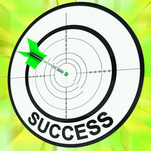 Success Target Shows Development Ideas And Vision