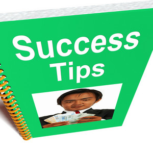 Success Tips Book Shows Wealth And Achievement