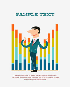 Successful Businessman (editable Text)