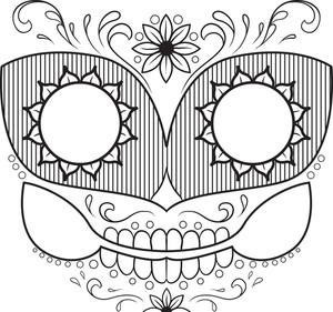 Sugar Skull Vector Element