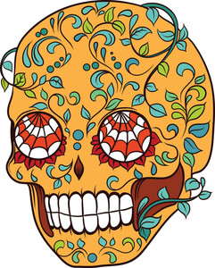 Sugar Skull Vector Element