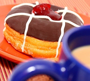 Sugary Fattening Donut With Coffee