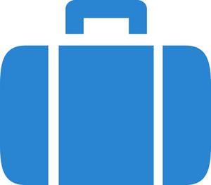 Suitcase Simplicity Icon