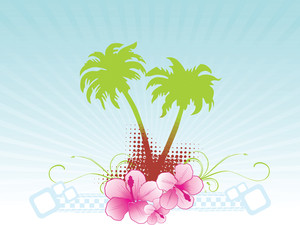 Summer Background Vector Banner