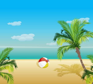 Summer Background Vector Illustration
