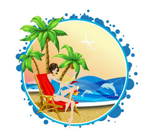 Summer Frame Vector Illustration