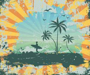 Summer Grunge Background Vector Illustration