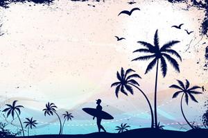 Summer Grunge Background Vector Illustration