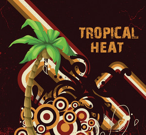 Summer Illustration With Detailed Palm Tree Vector Illustration
