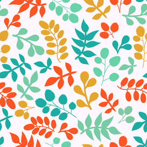 Summer Seamless Leaf Pattern.