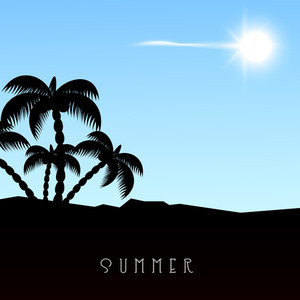 Summer Season Concept With Beautiful Palm Trees