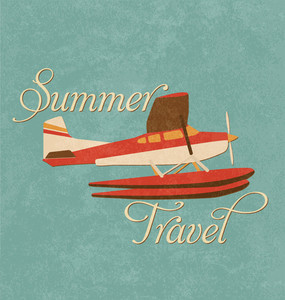Summer Travel Design - Retro Plane