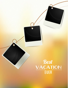 Summer Vector Illustration With Photo Frame