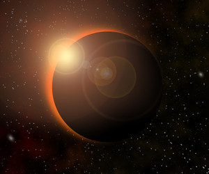 Sun Eclipse Cosmic Texture