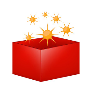 Sun Elements Vector Box