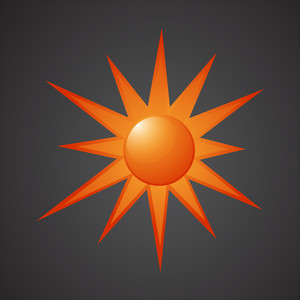 Sun Icon Vector Design