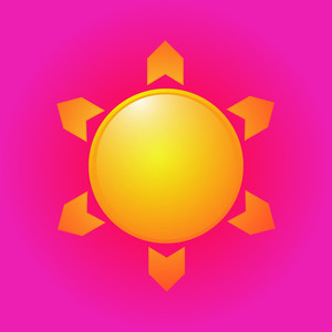 Sun Vector Icon Design