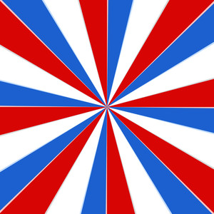 Sunburst 4th Of July Vector Theme Design