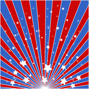 Sunburst Background American Themed Independence Day Vector Design