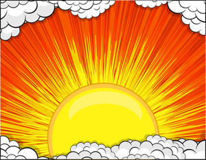 Sunburst Clouds Background