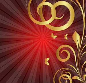 Sunburst Flourish Background