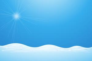 Sunburst On Ice Land - Vector Background