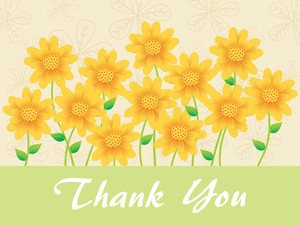 Sunflowers Background With Thankyou Text