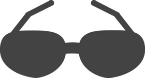 Sunglasses Glyph Icon