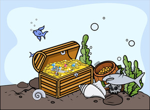 Sunken Treasure - Vector Illustration