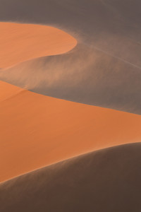 Sunlit sand dune