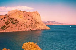 Sunny rocky coast