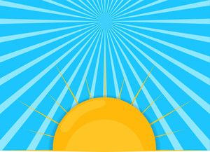 Sunrays Vector Background