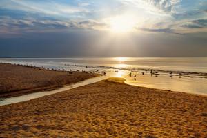 Sunrise over beautiful beach