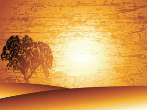 Sunset Background Grunge Wallpaper