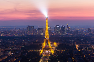 Sunset Eiffle Tower. Paris. France