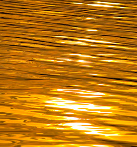 Sunset Lake As Liquid Gold